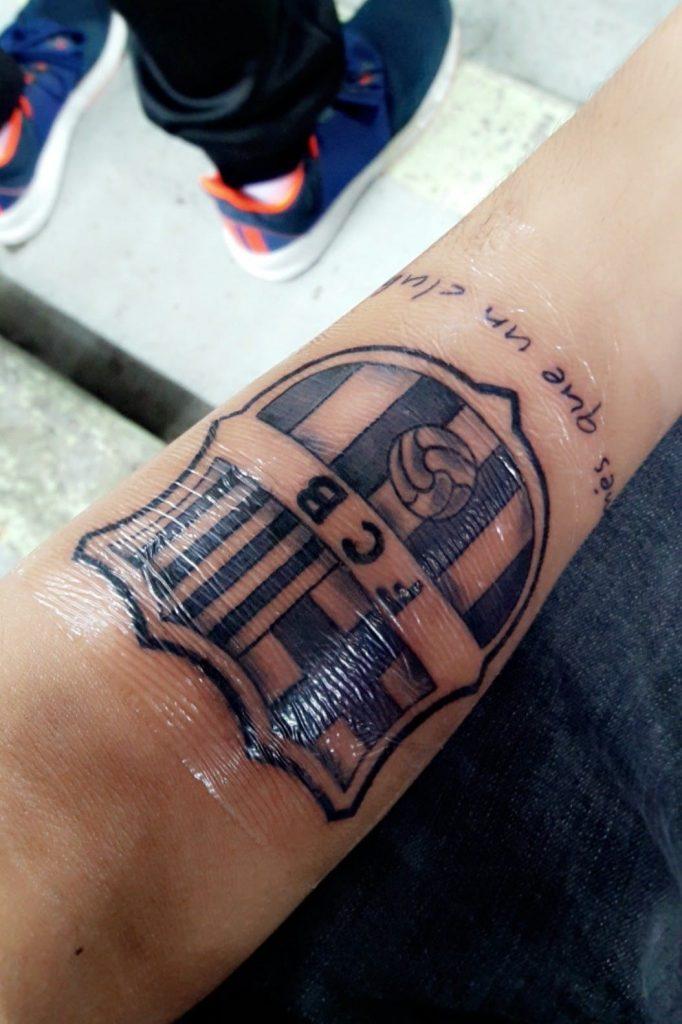 tattoo del barcelona recien hecho
