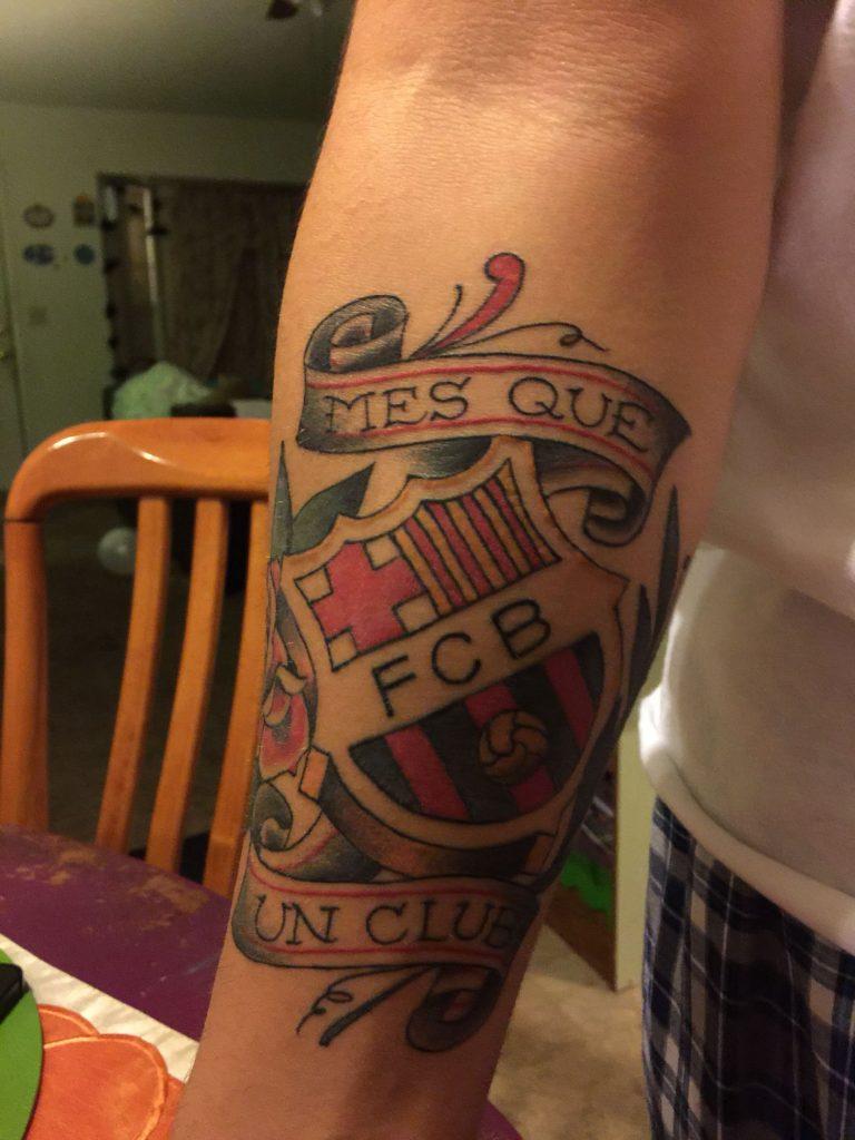 tatuaje del fcb