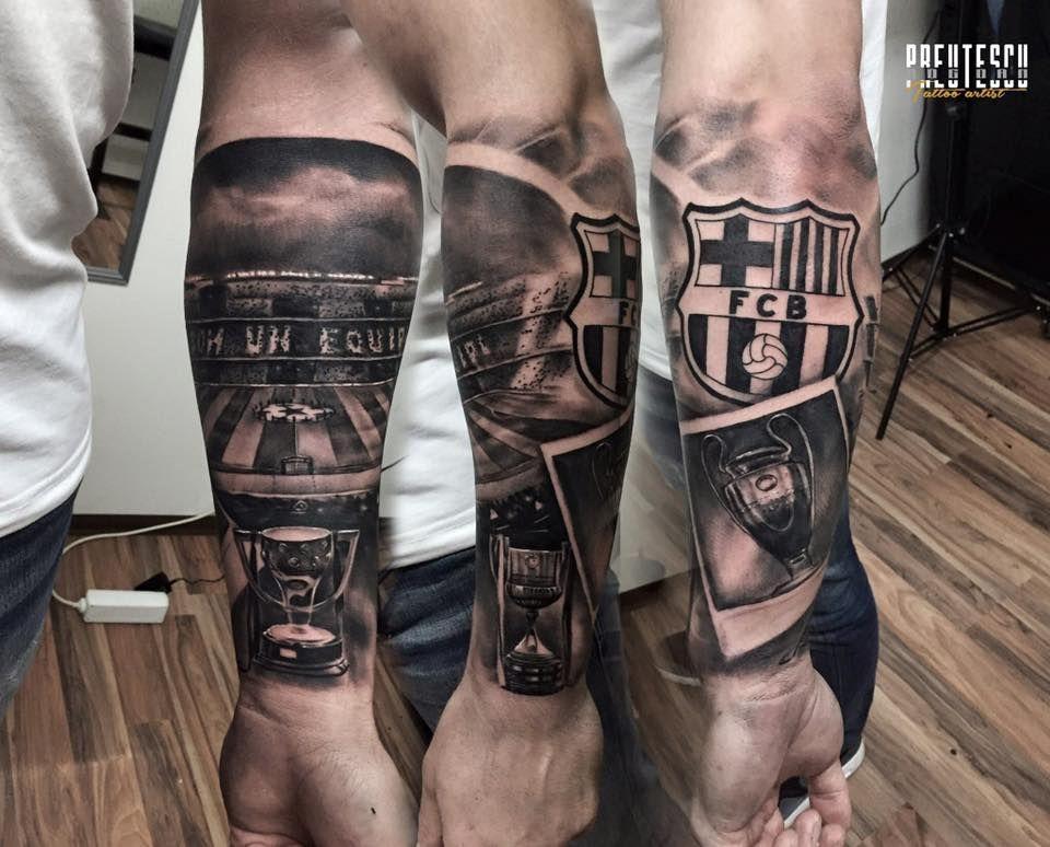 tatuaje manga del barcelona