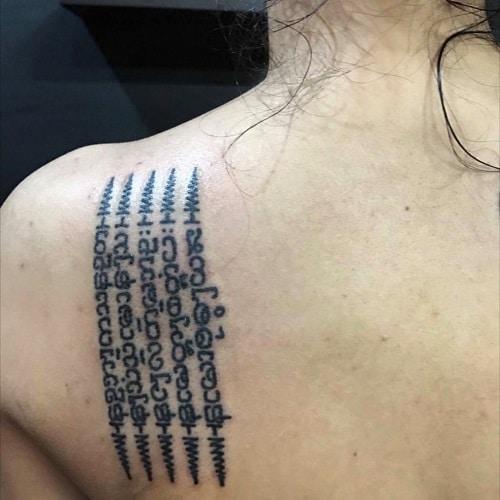 tatuaje oraciones tailandesas