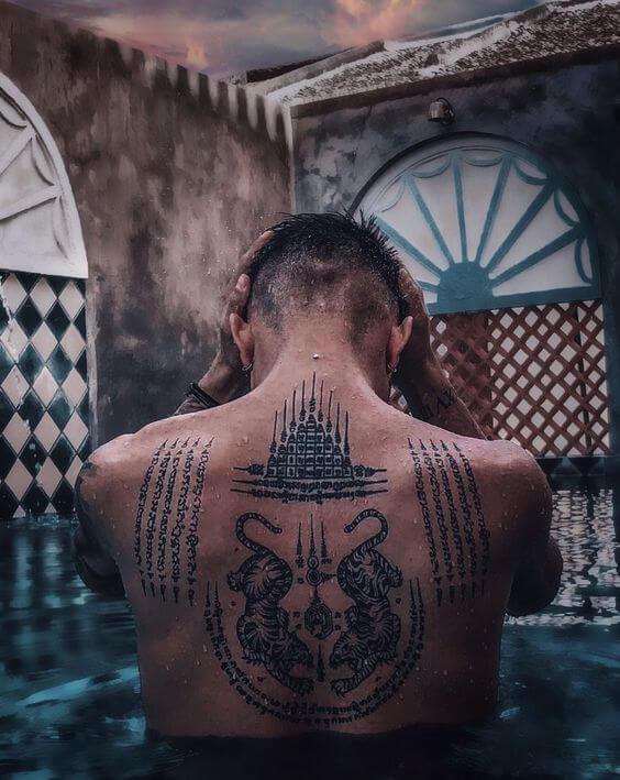 Tatuaje Gao Yord Sak Yant Hombre