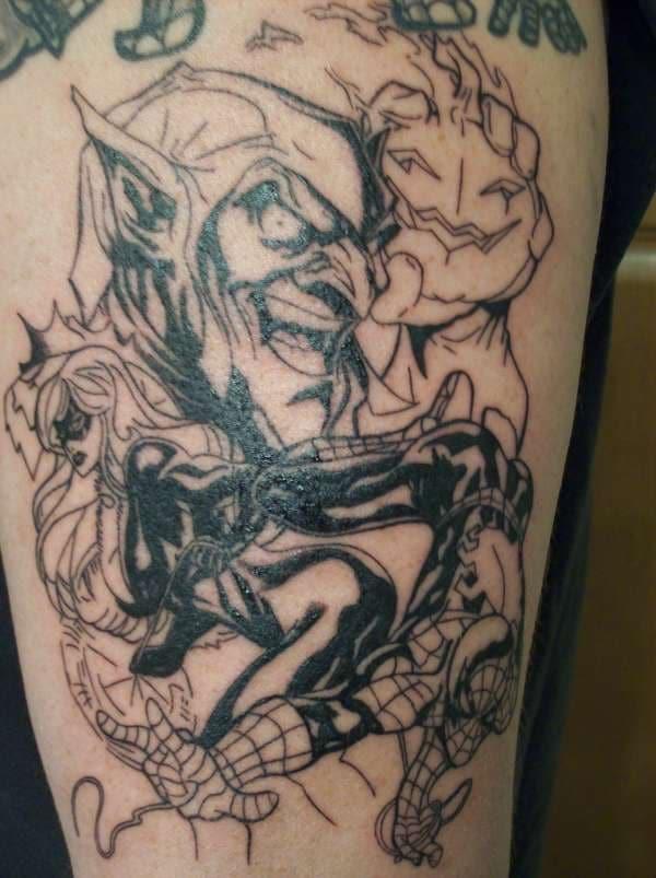 diseño de tatuaje de duende