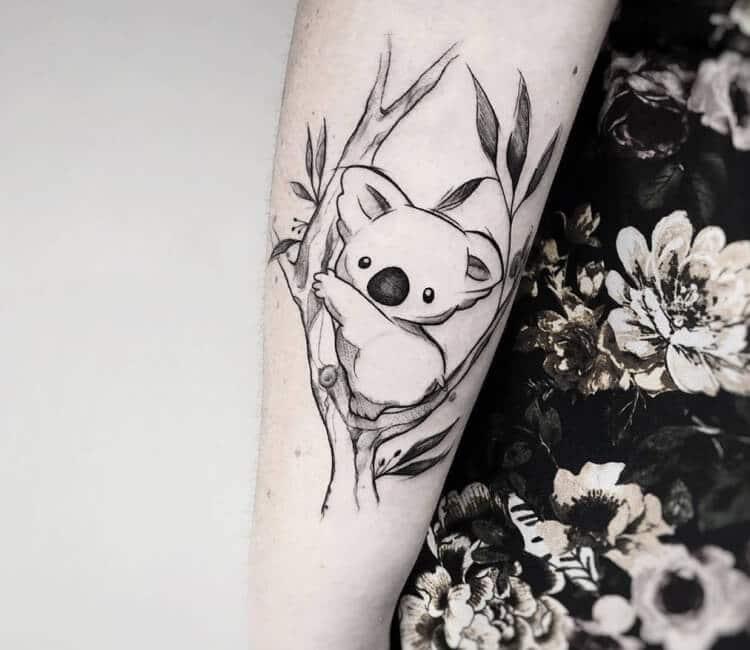 hermoso tatuaje de koalas