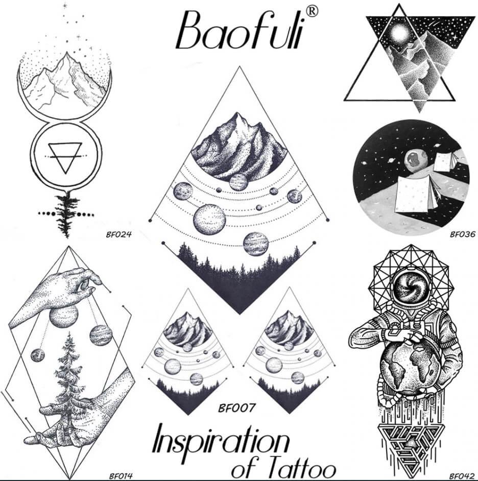 ideas para tatuajes de universo