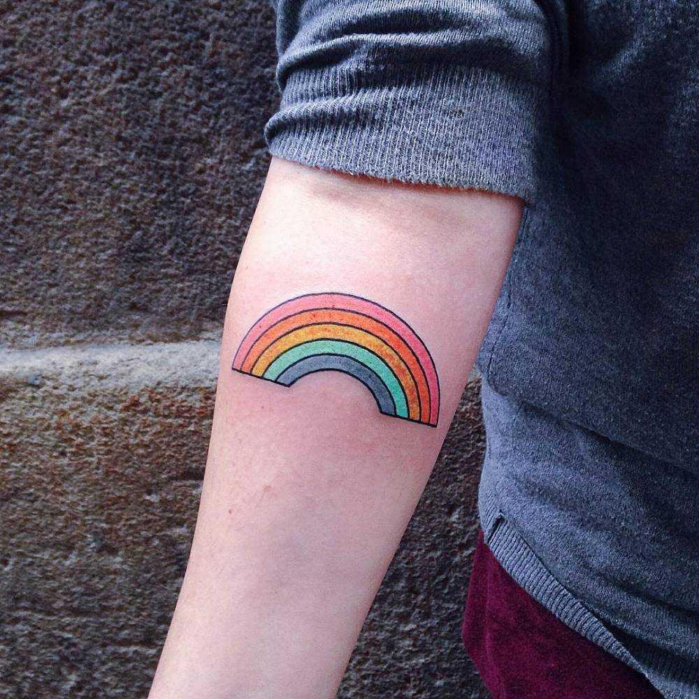 mejor tatuaje de arcoiris