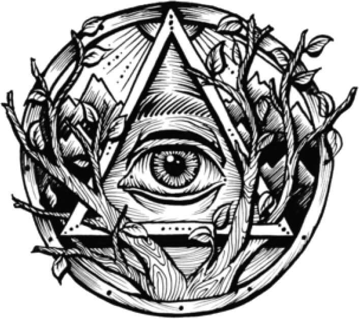plantilla tatuaje de illuminati
