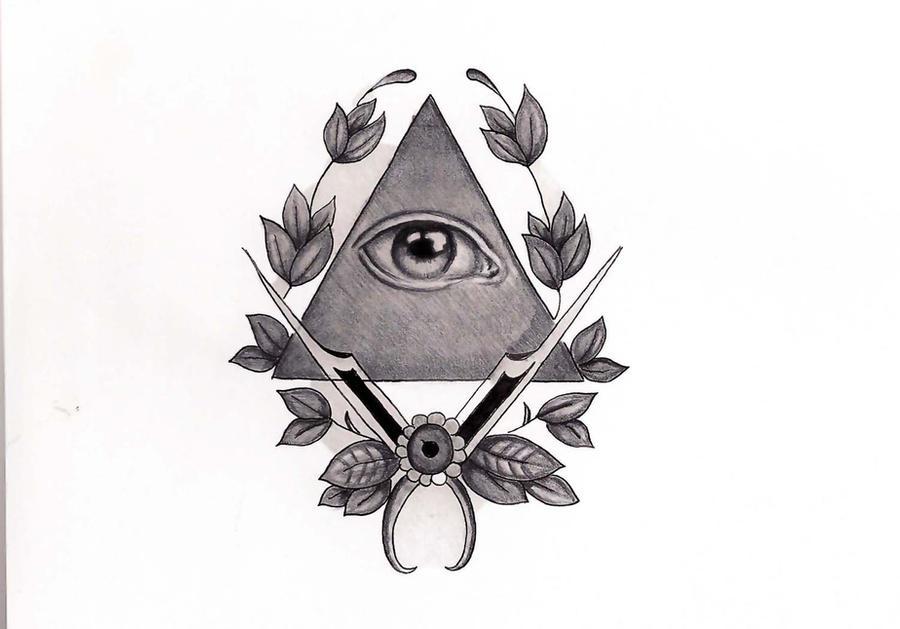 plantilla tatuaje illuminati