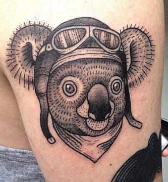 que representa un tatuaje de koala