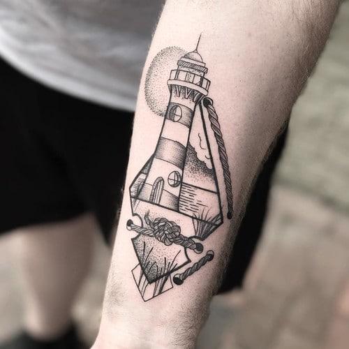 significado de los tatuajes de faros