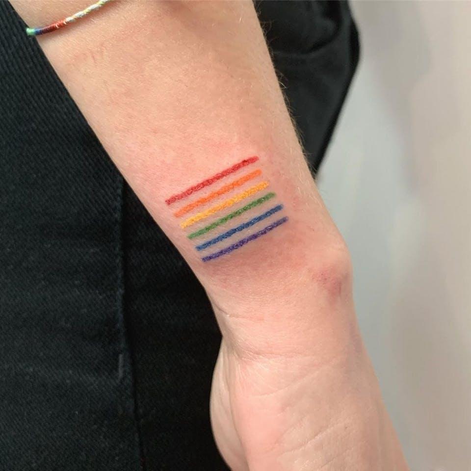 tatuaje de arcoiris original