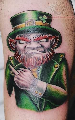 tatuaje de duende con barba