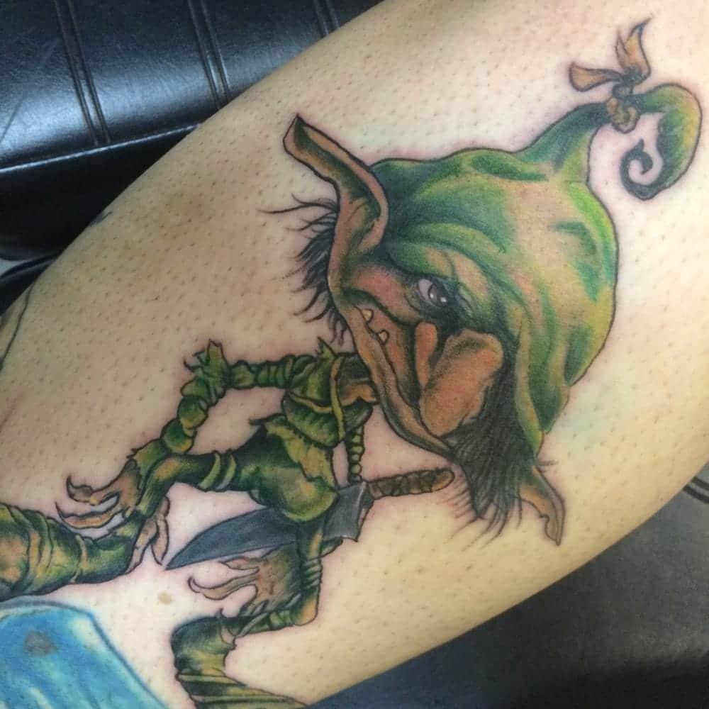 tatuaje de duende irlandes