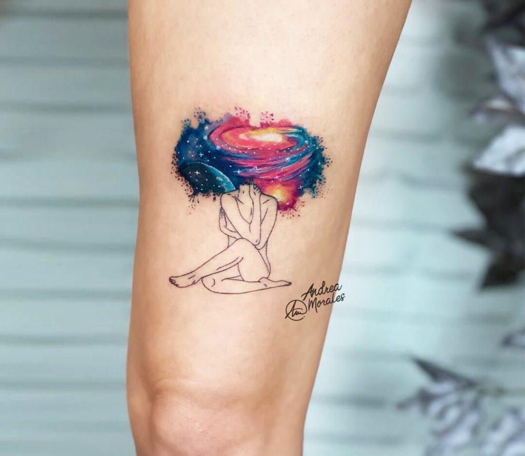 tatuaje pensamiento de universo