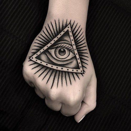 tatuaje simbolo de illuminati
