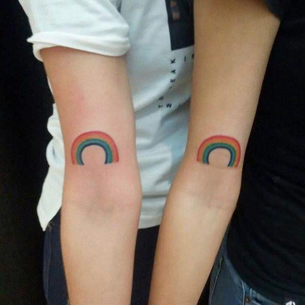 tatuajes de arcoiris para amigos