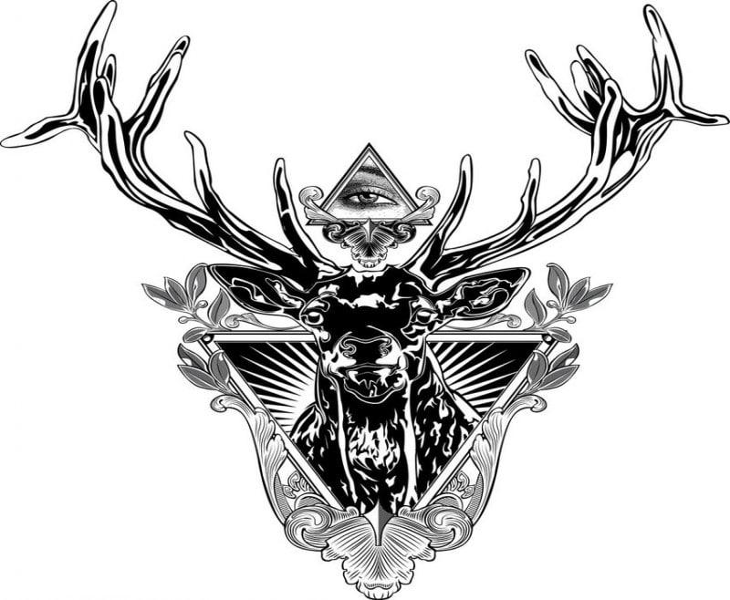 variante del tatuaje de illuminati para imprimir