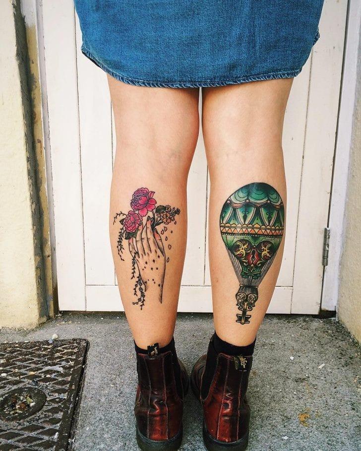 tatuajes en las pantorrillas para mujer