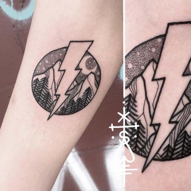 Simbolismo del tatuaje de rayo