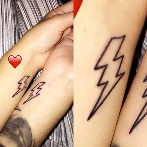 tatuajes de rayos para amigas