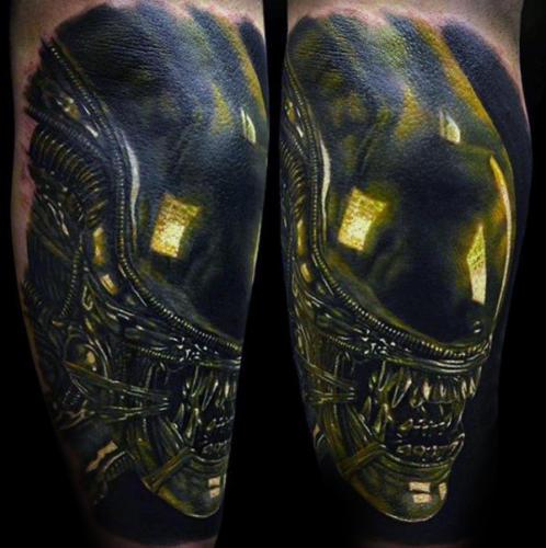 Tatuaje de Aliens vs Depredador