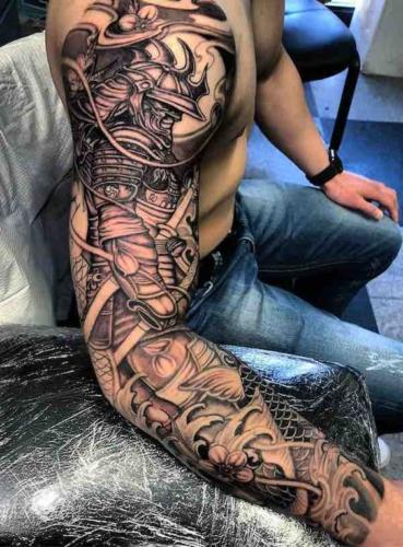 mejor tatuaje de samurai