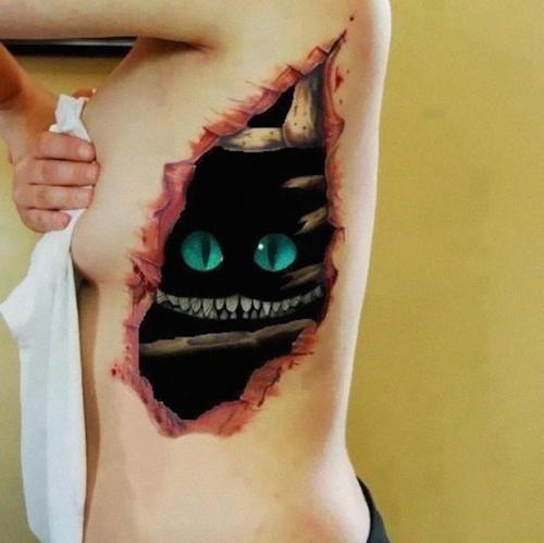 tatuaje de herida en 3D