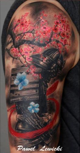 tatuaje de samurai hombre