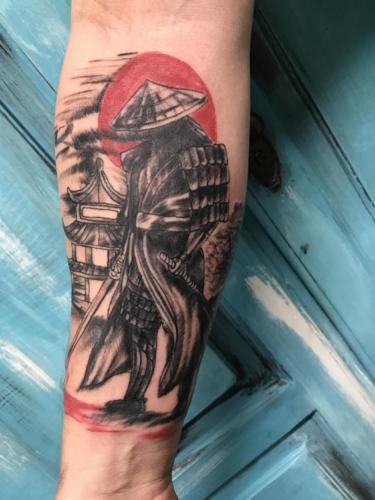 tatuaje de samurai japones