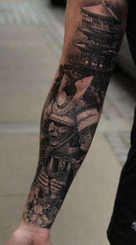 tatuaje de samurai manga