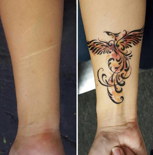 tatuaje para cubrir flagelacion