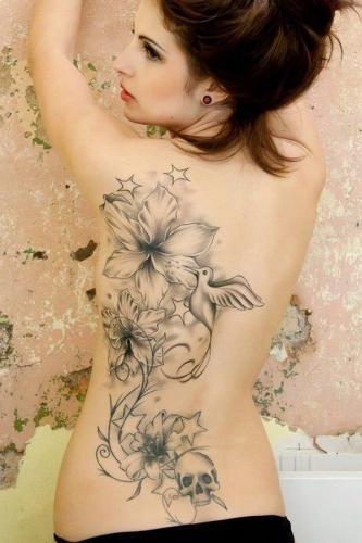 tatuajes lindos para la espalda