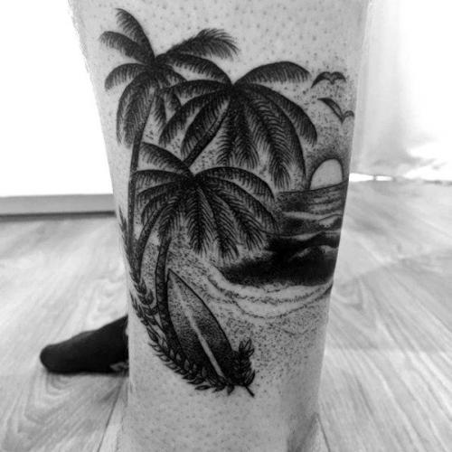 tatuajes originales de palmeras